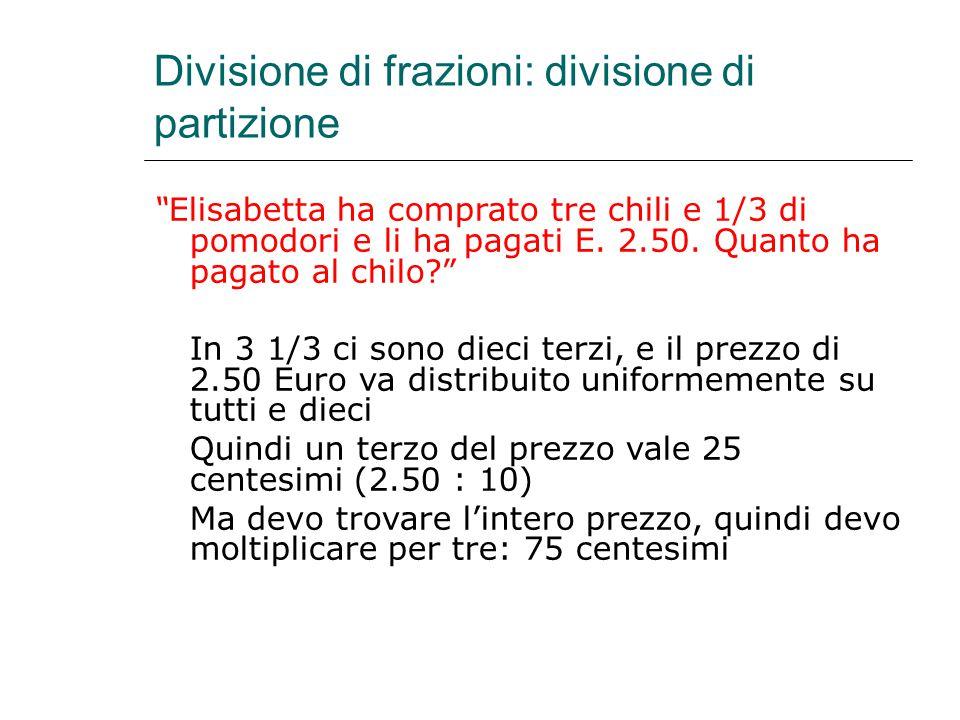 Divisione di frazioni: divisione di partizione