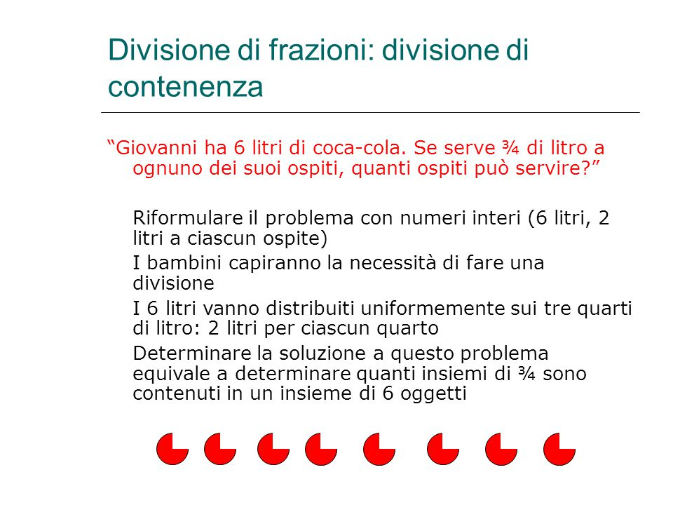 Divisione di frazioni: divisione di contenenza