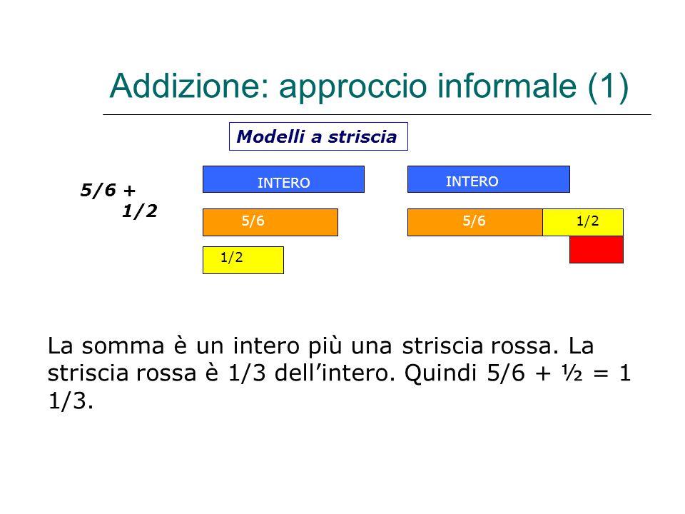 Addizione: approccio informale (1)