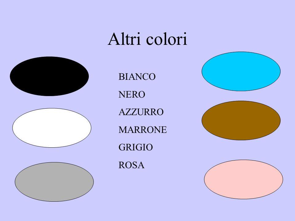 Altri colori BIANCO NERO AZZURRO MARRONE GRIGIO ROSA