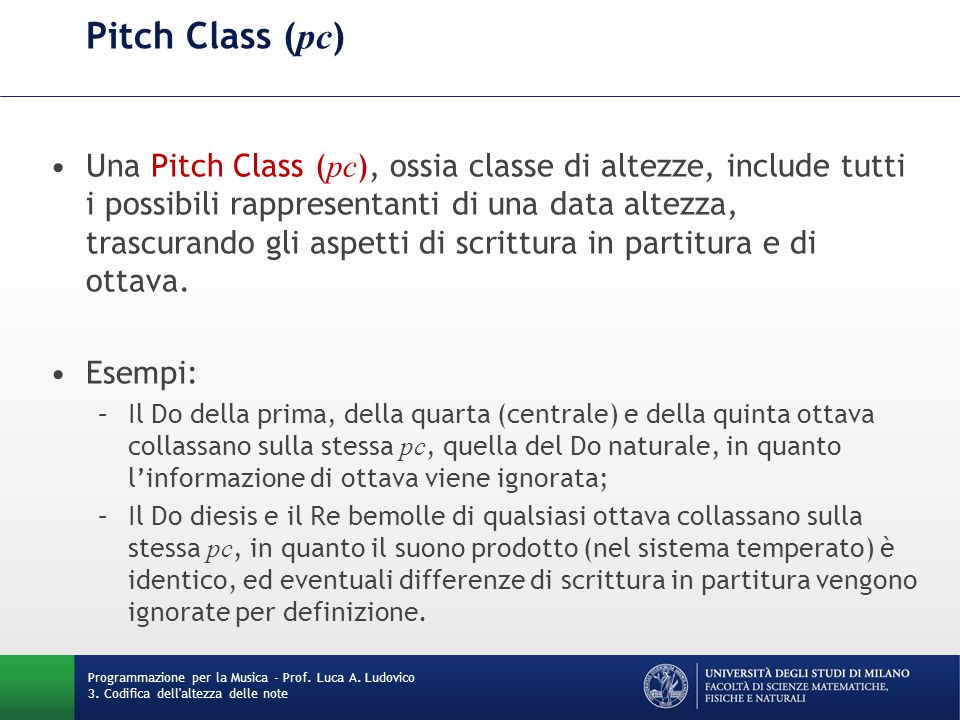 Pitch Class (pc)