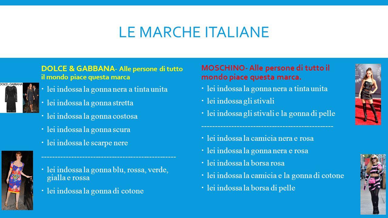 Le marche italiane DOLCE & GABBANA- Alle persone di tutto il mondo piace questa marca.