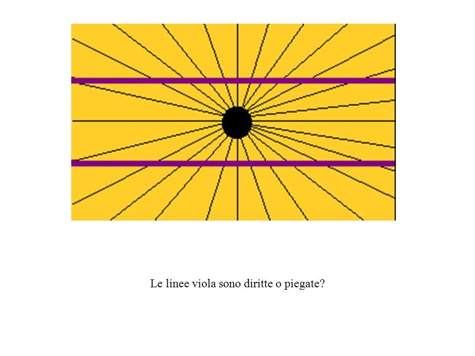 Le linee viola sono diritte o piegate