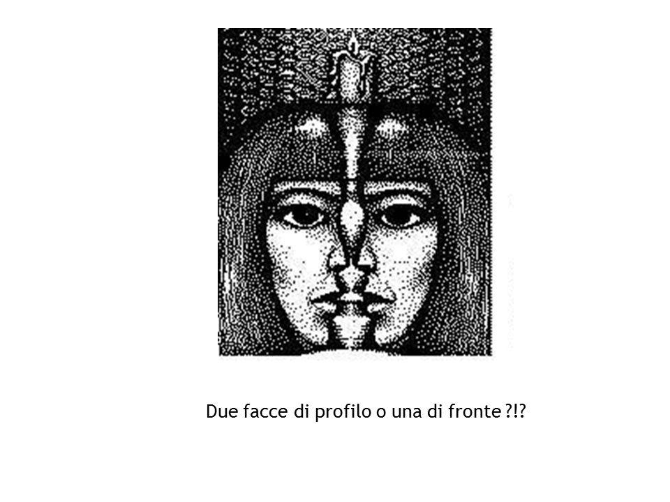 Due facce di profilo o una di fronte !