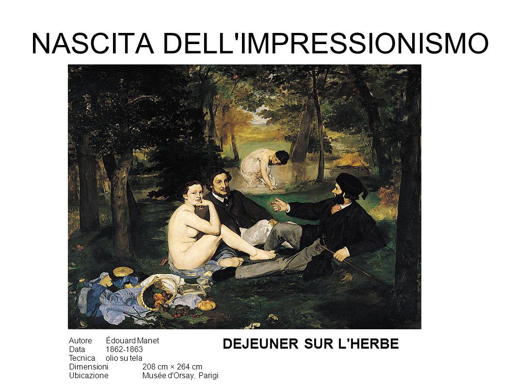 NASCITA DELL IMPRESSIONISMO