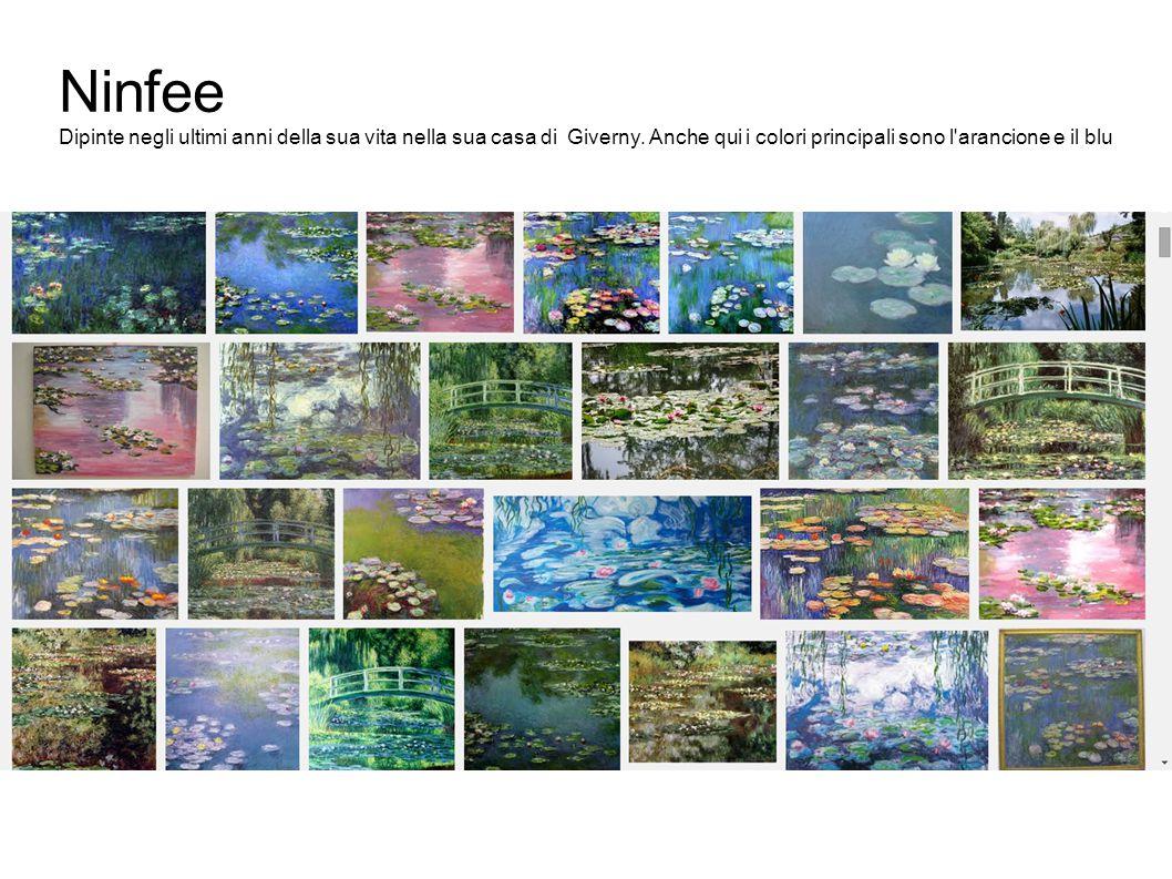 Ninfee Dipinte negli ultimi anni della sua vita nella sua casa di Giverny.