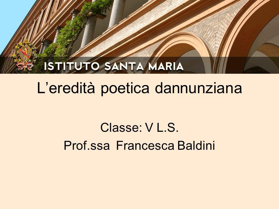 L'eredità poetica dannunziana