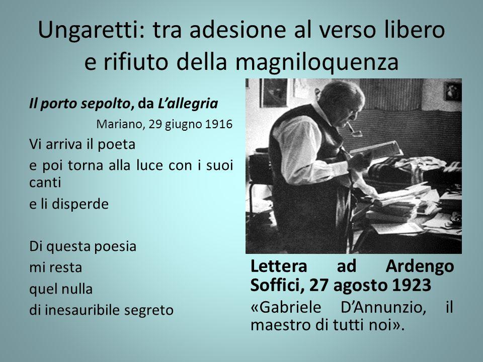 Ungaretti: tra adesione al verso libero e rifiuto della magniloquenza