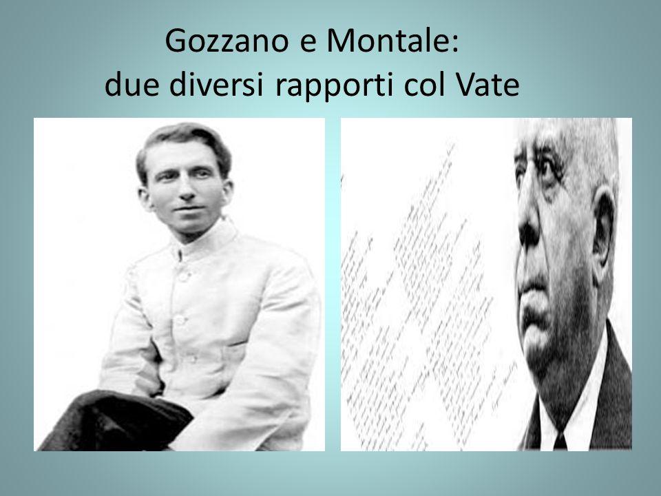 Gozzano e Montale: due diversi rapporti col Vate