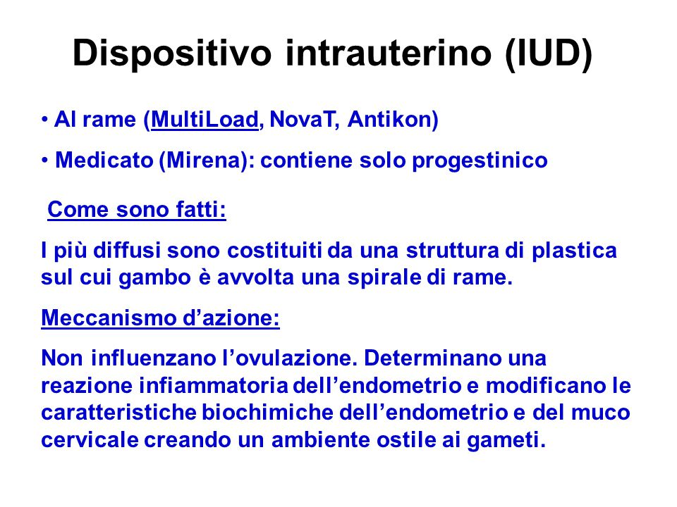 Dispositivo intrauterino (IUD)