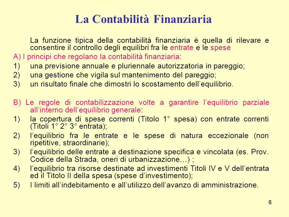 La Contabilità Finanziaria