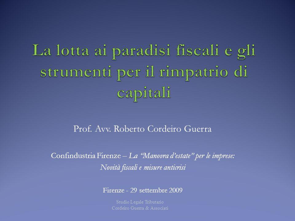 La lotta ai paradisi fiscali e gli strumenti per il rimpatrio di capitali