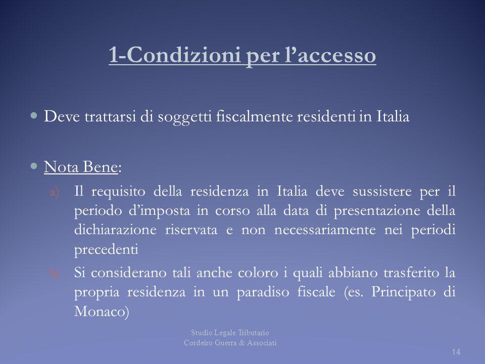 1-Condizioni per l'accesso