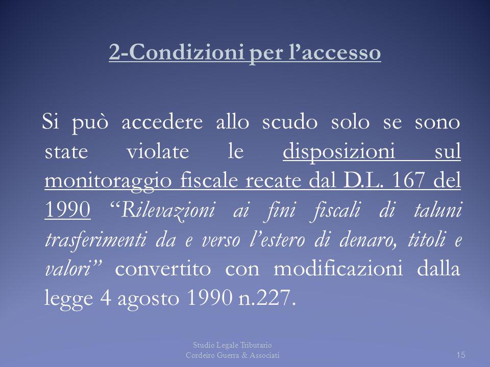 2-Condizioni per l'accesso