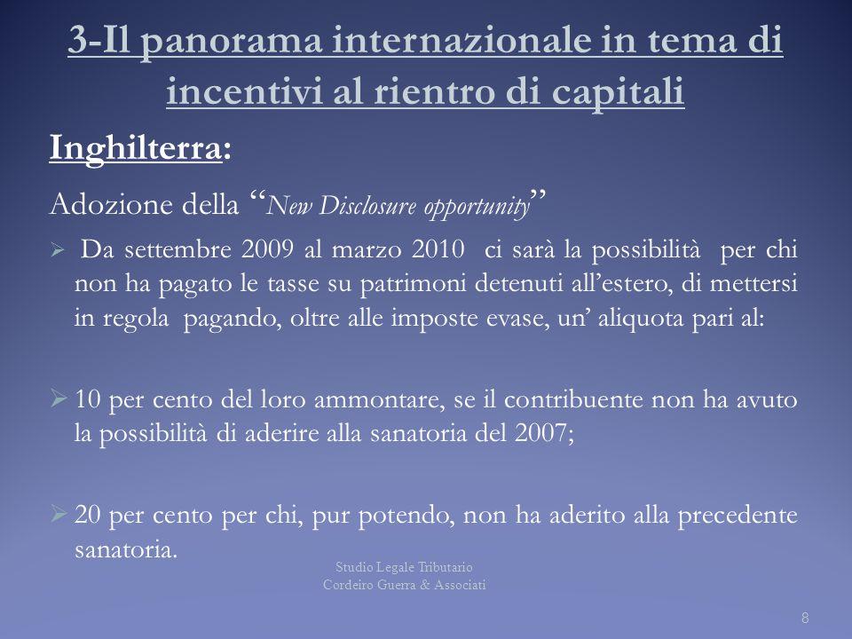3-Il panorama internazionale in tema di incentivi al rientro di capitali