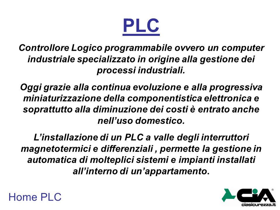 PLC Controllore Logico programmabile ovvero un computer industriale specializzato in origine alla gestione dei processi industriali.