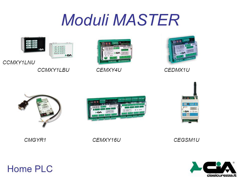 Moduli MASTER Home PLC CCMXY1LNU CCMXY1LBU CEMXY4U CEDMX1U CMGYR1