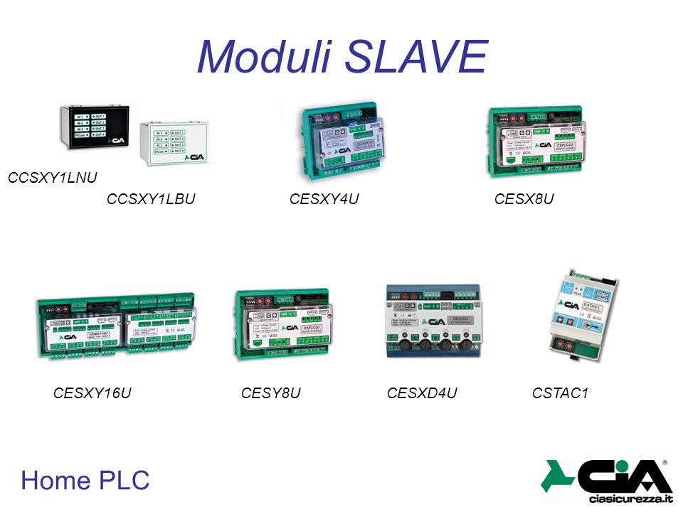Moduli SLAVE Home PLC CCSXY1LNU CCSXY1LBU CESXY4U CESX8U CESXY16U