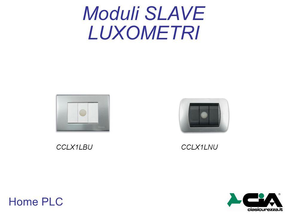 Moduli SLAVE LUXOMETRI CCLX1LBU CCLX1LNU Home PLC