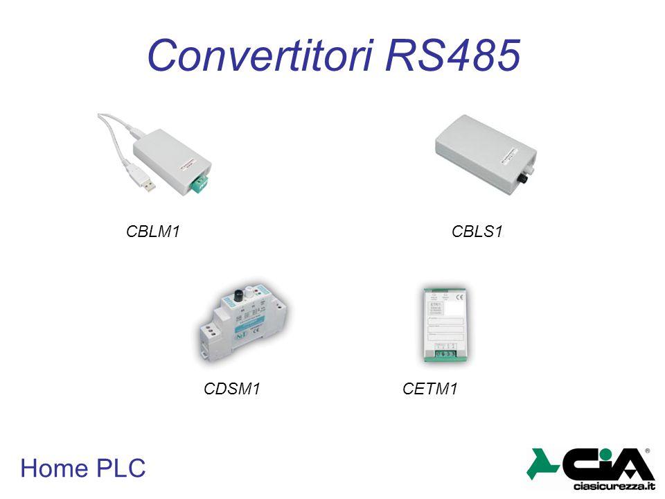Convertitori RS485 CBLM1 CBLS1 CDSM1 CETM1 Home PLC