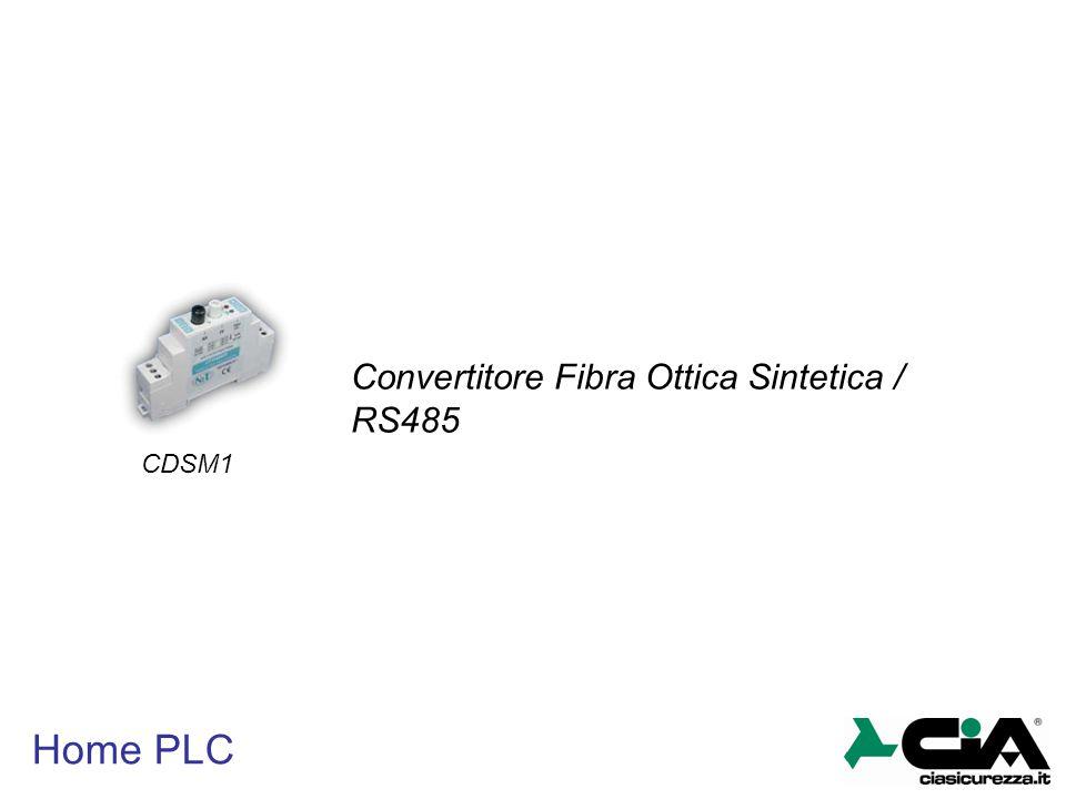 Convertitore Fibra Ottica Sintetica / RS485