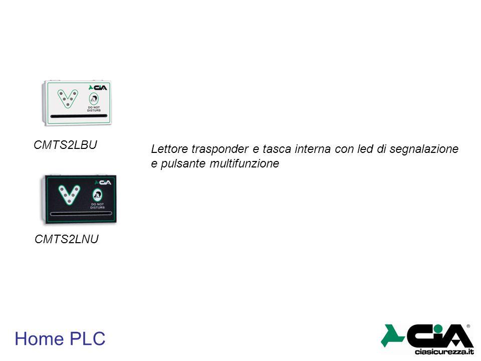 CMTS2LBU Lettore trasponder e tasca interna con led di segnalazione e pulsante multifunzione. CMTS2LNU.