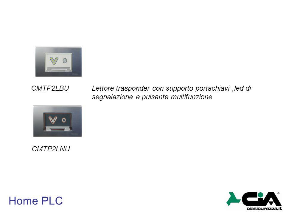 CMTP2LBU Lettore trasponder con supporto portachiavi ,led di segnalazione e pulsante multifunzione.