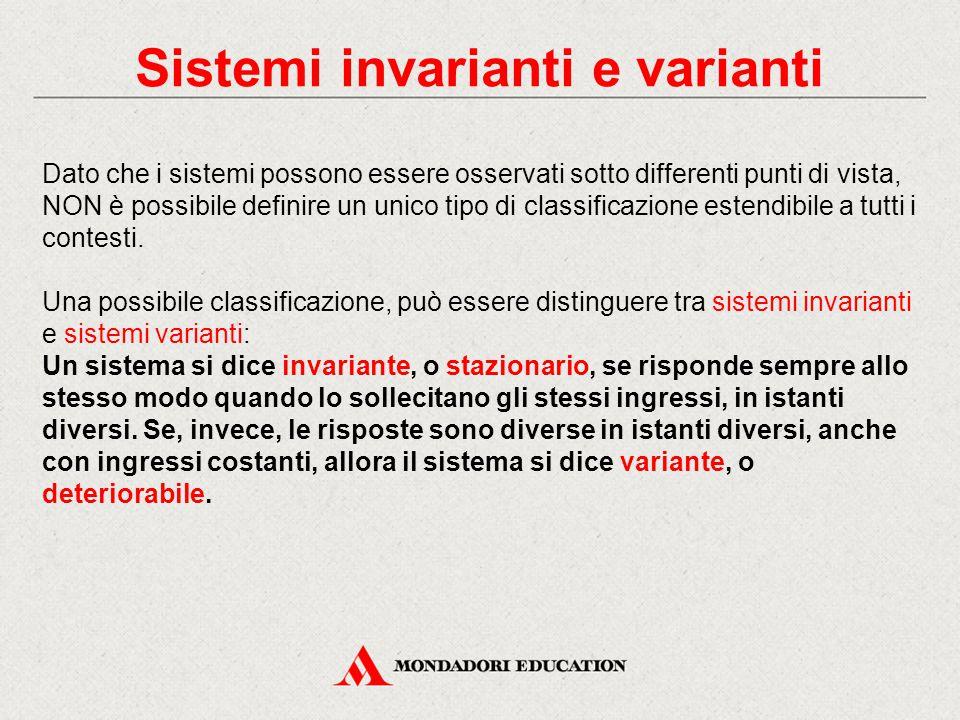 Sistemi invarianti e varianti