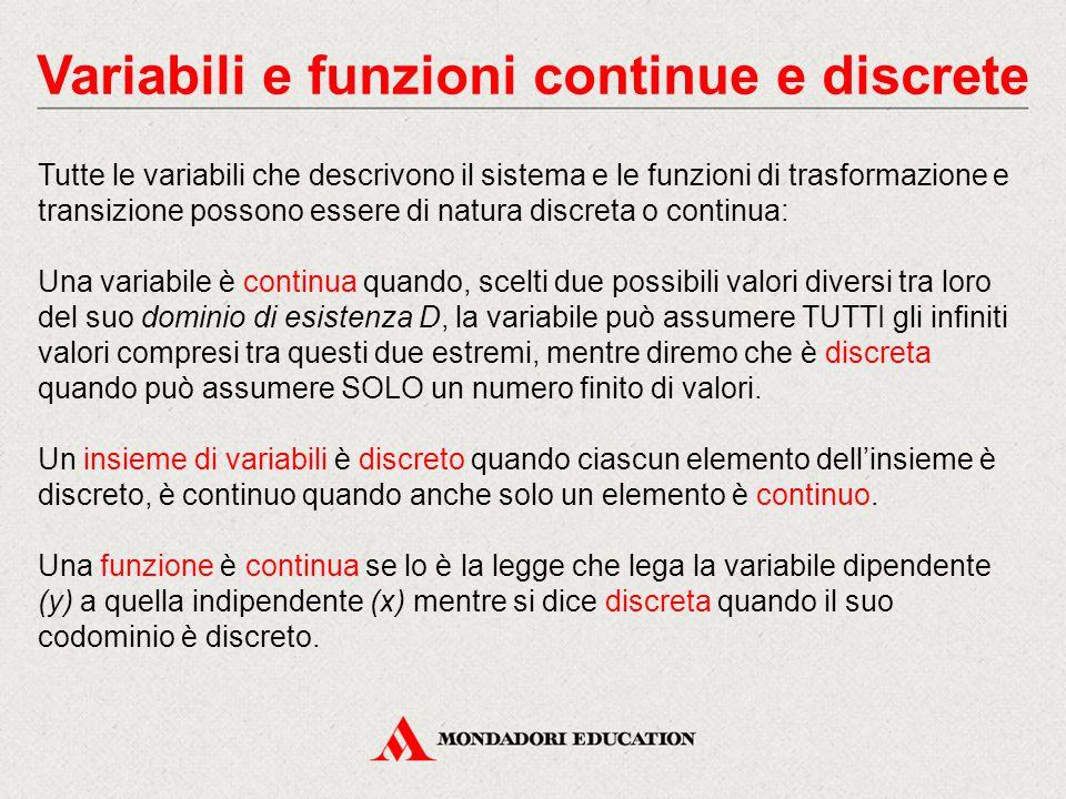 Variabili e funzioni continue e discrete