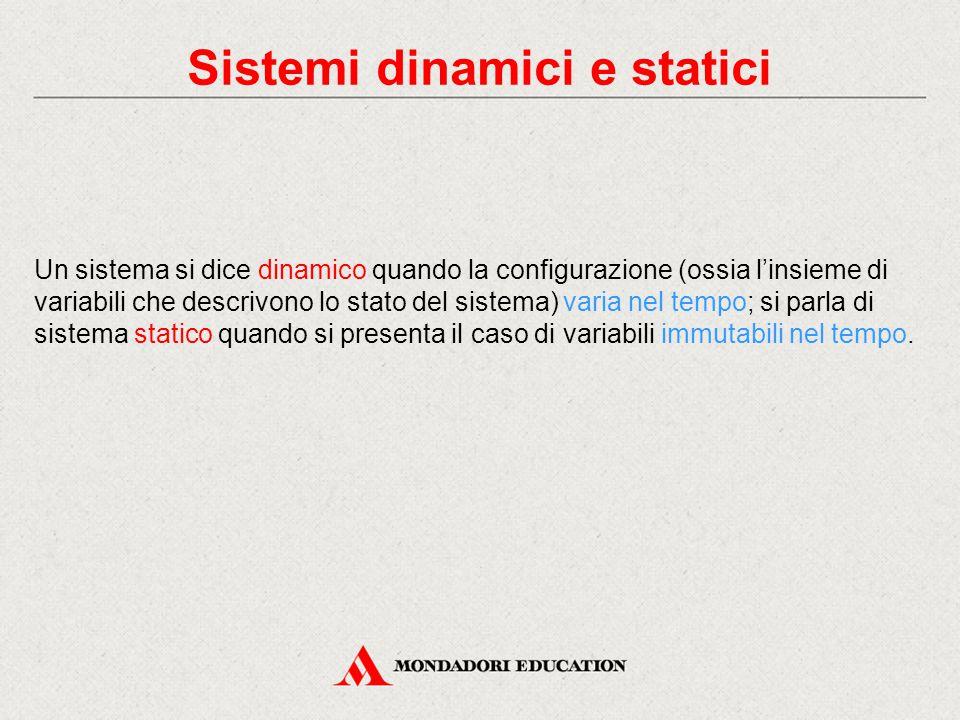 Sistemi dinamici e statici