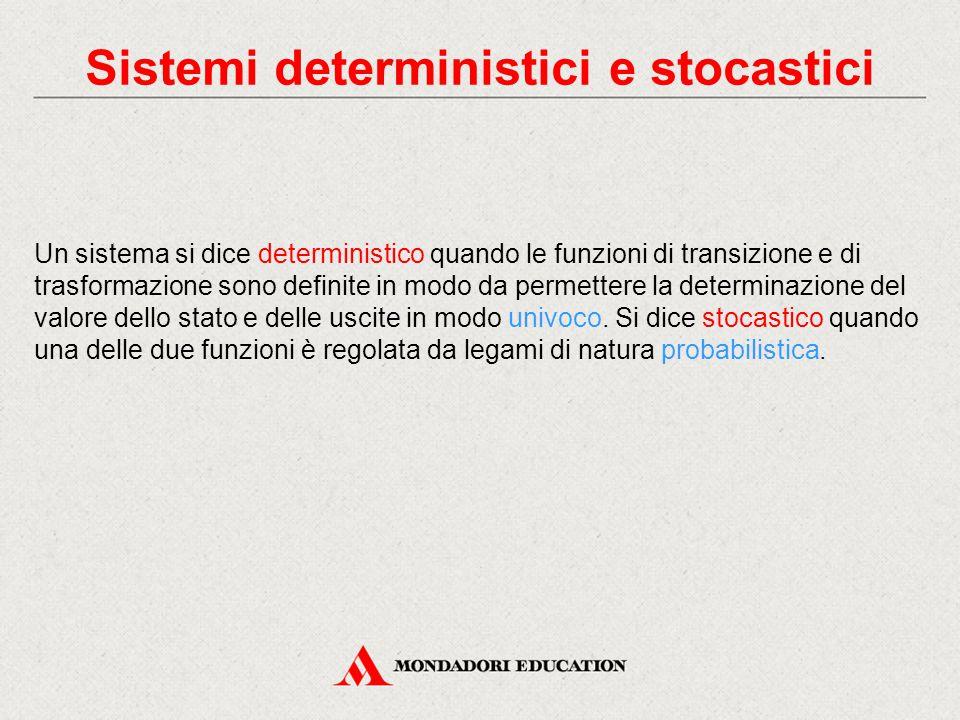Sistemi deterministici e stocastici