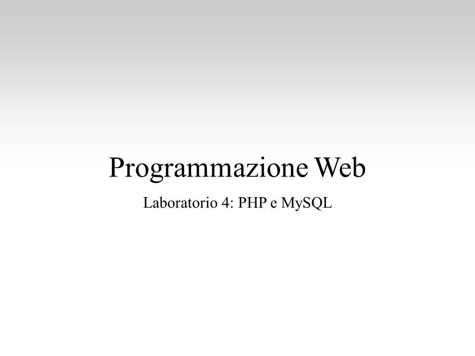 Laboratorio 4: PHP e MySQL
