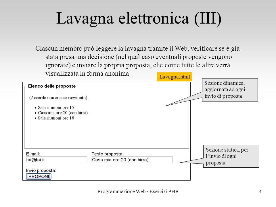 Lavagna elettronica (III)