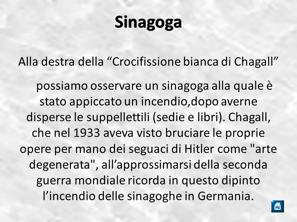 Alla destra della Crocifissione bianca di Chagall