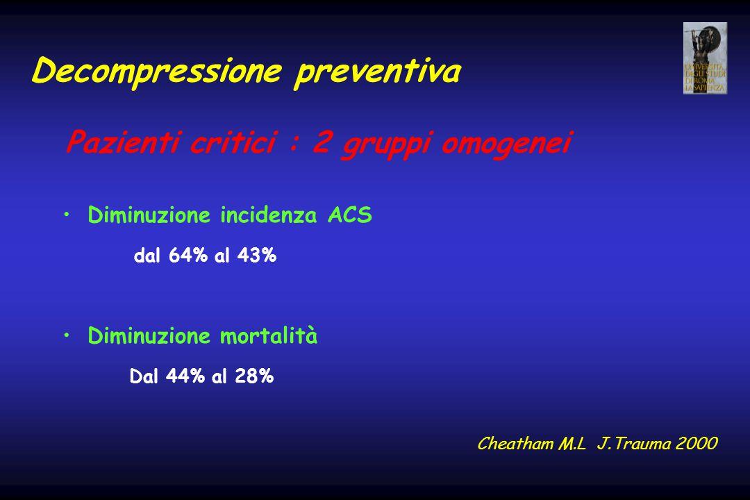 Decompressione preventiva