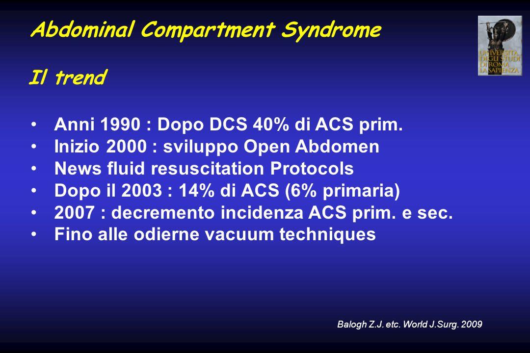 Abdominal Compartment Syndrome Il trend