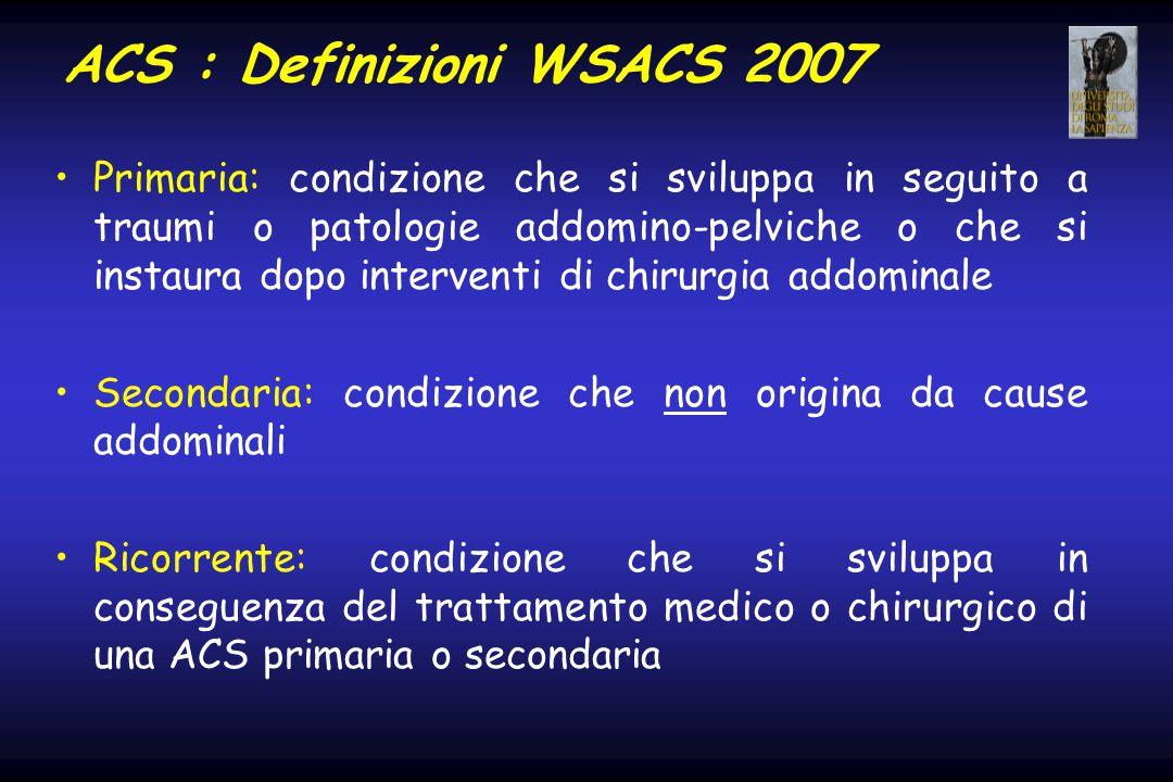 ACS : Definizioni WSACS 2007
