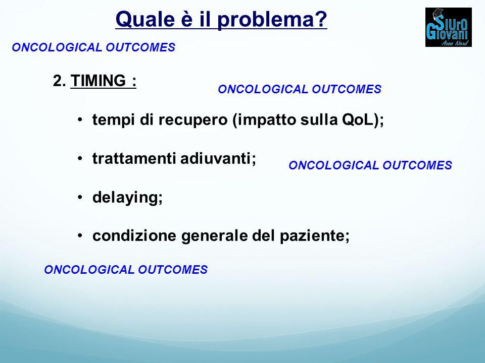 Quale è il problema 2. TIMING :