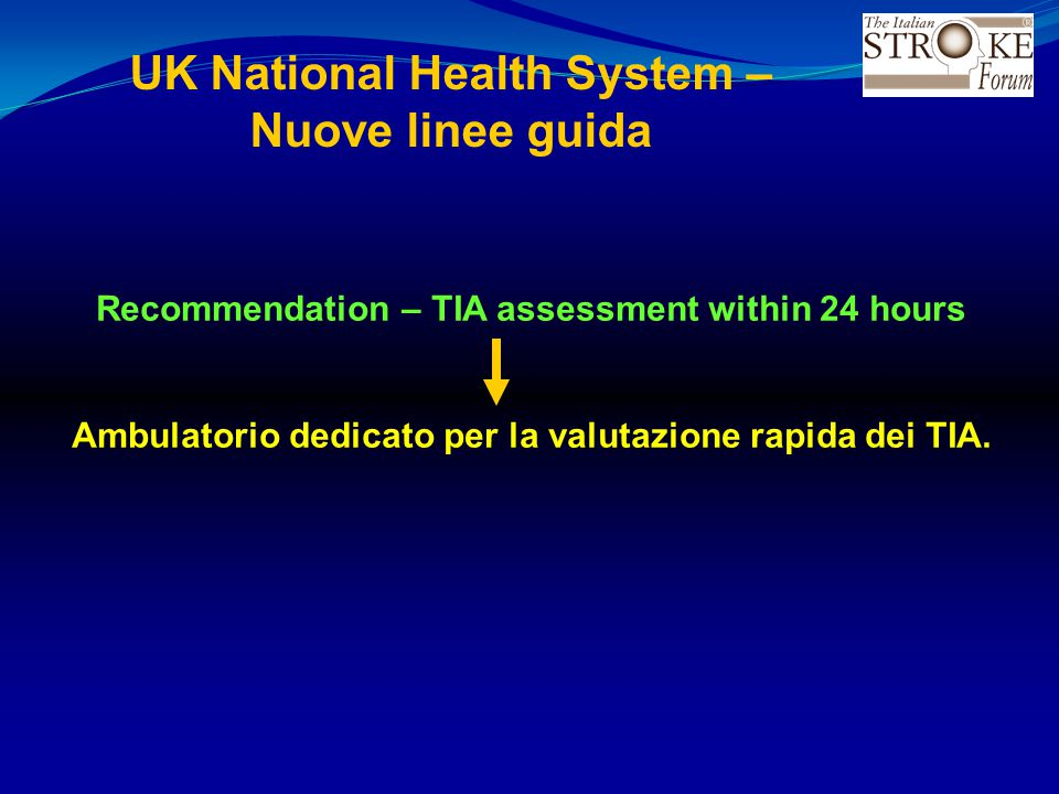 UK National Health System – Nuove linee guida