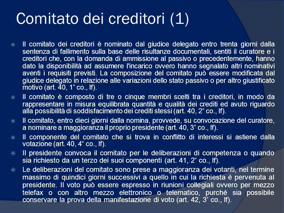 Comitato dei creditori (1)