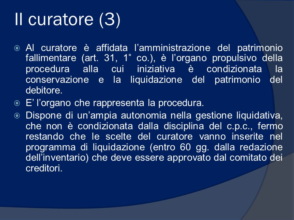 Il curatore (3)
