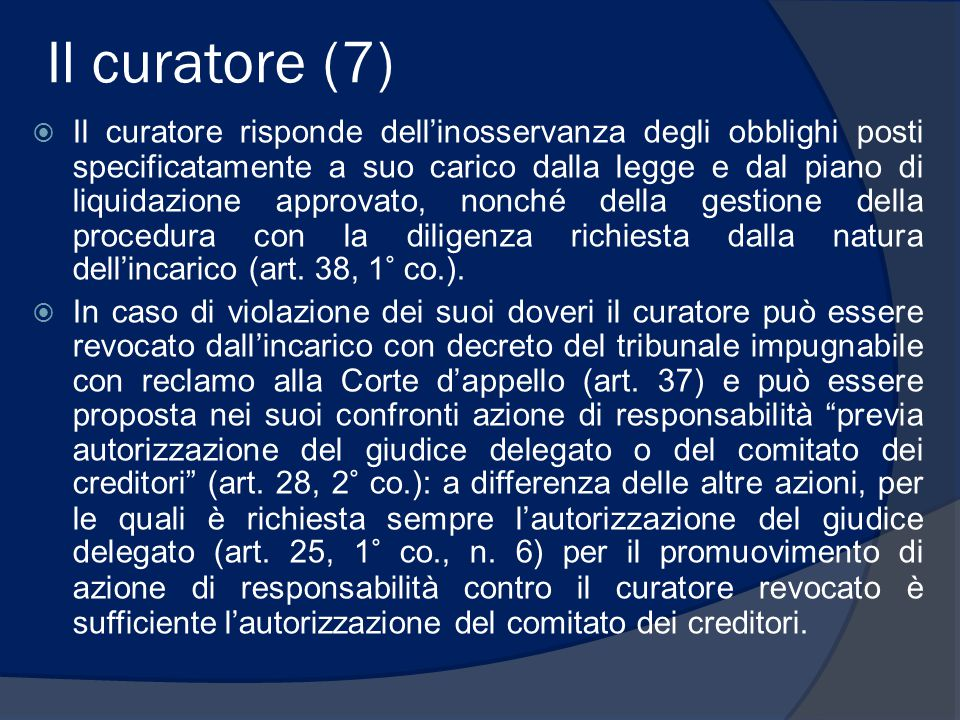 Il curatore (7)