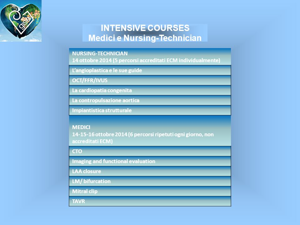 INTENSIVE COURSES Medici e Nursing-Technician
