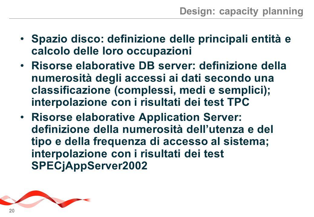 Design: capacity planning