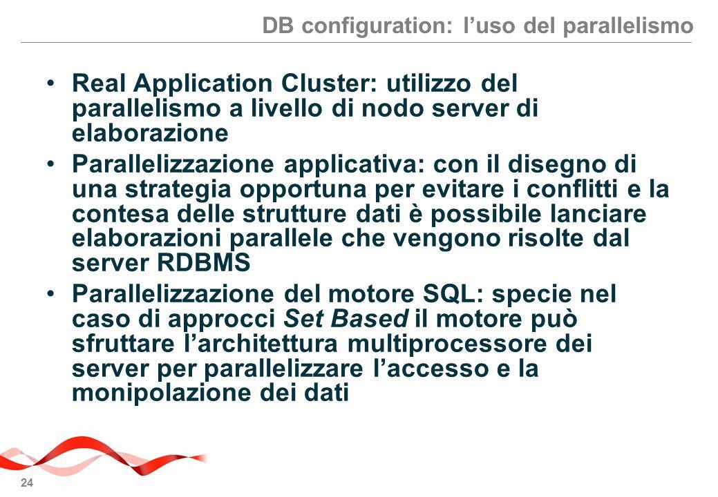 DB configuration: l'uso del parallelismo