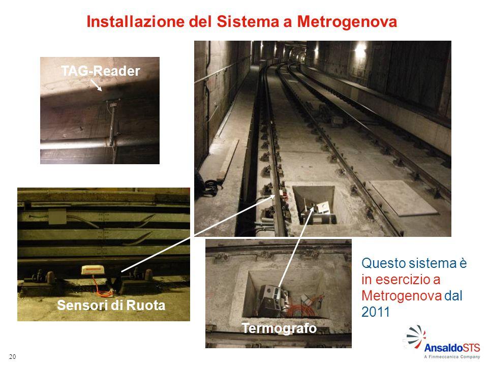 Installazione del Sistema a Metrogenova