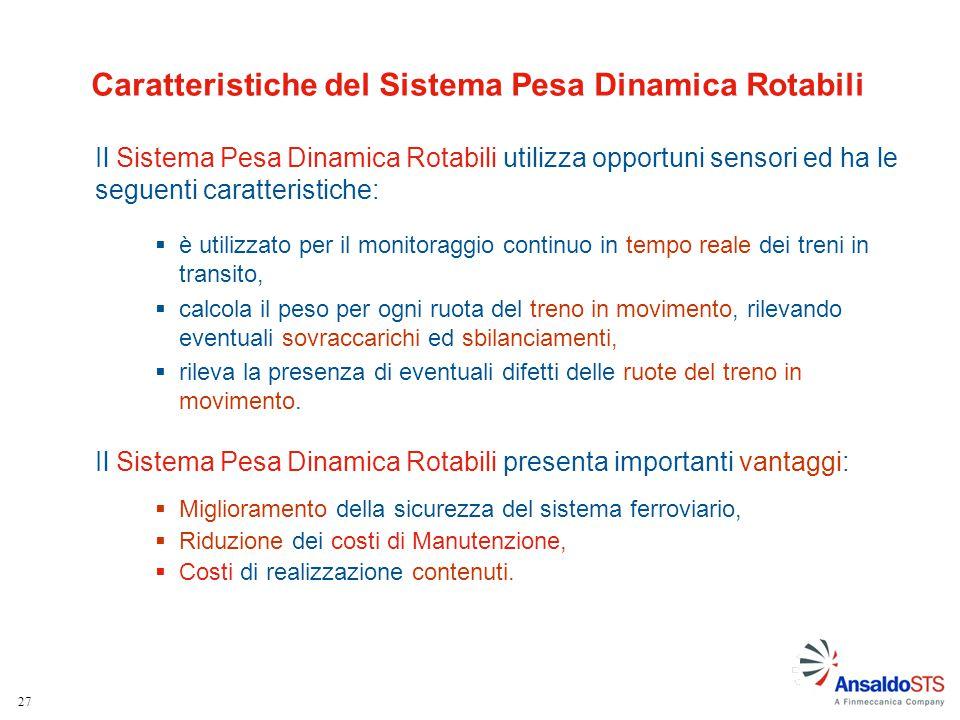 Caratteristiche del Sistema Pesa Dinamica Rotabili