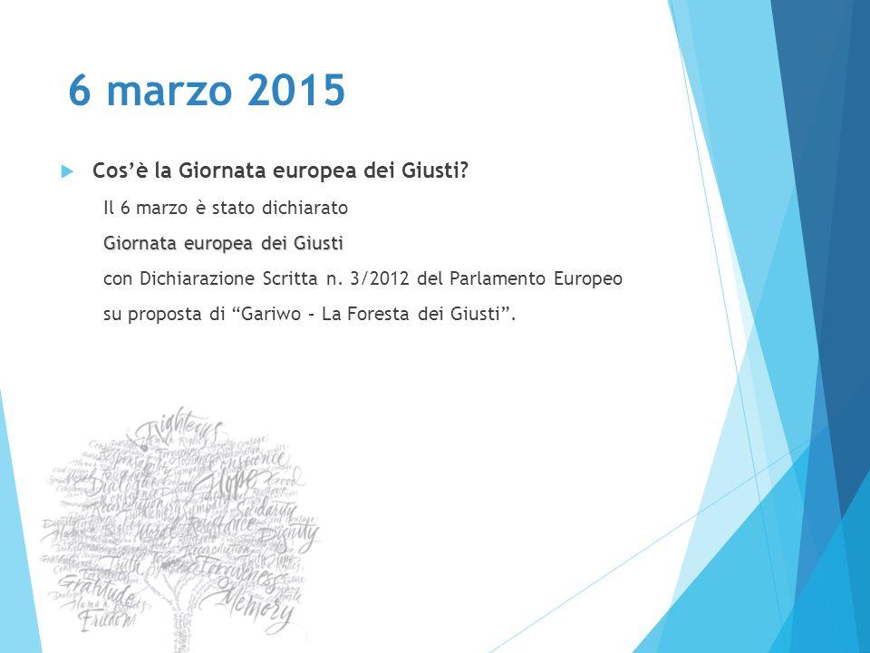 6 marzo 2015 Cos'è la Giornata europea dei Giusti
