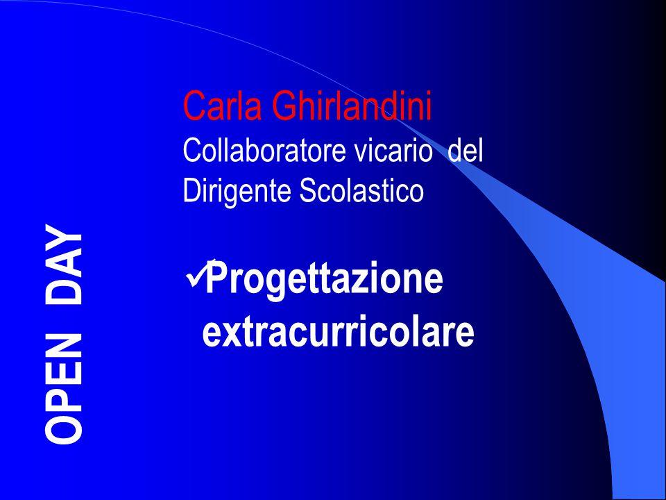 OPEN DAY Progettazione extracurricolare Carla Ghirlandini