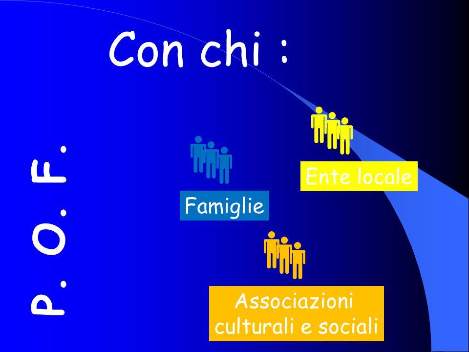 Con chi : P. O. F. Ente locale Famiglie Associazioni
